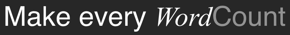 WordCount - Make every...